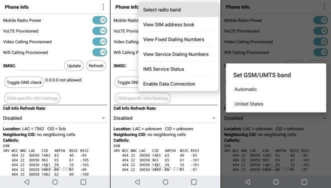 LG K30 Dialer Codes Testing Menu