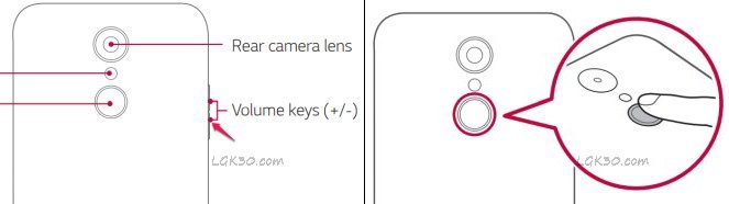 How to screenshot on lg k30