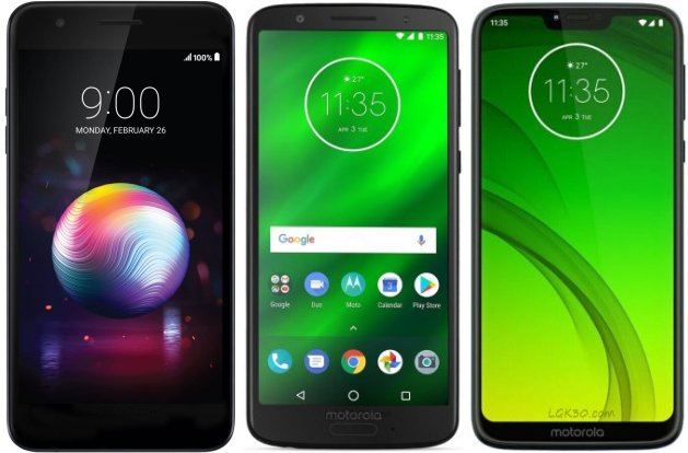 LG K30 vs Moto G6 vs Moto G7 Power