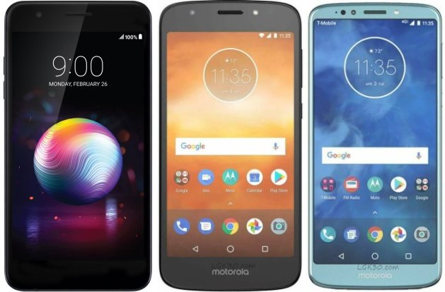 lg k30 vs moto e5 play vs moto e5 plus