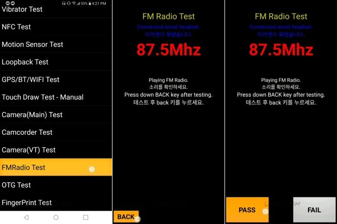 K40 FM Radio Test Hidden Menu
