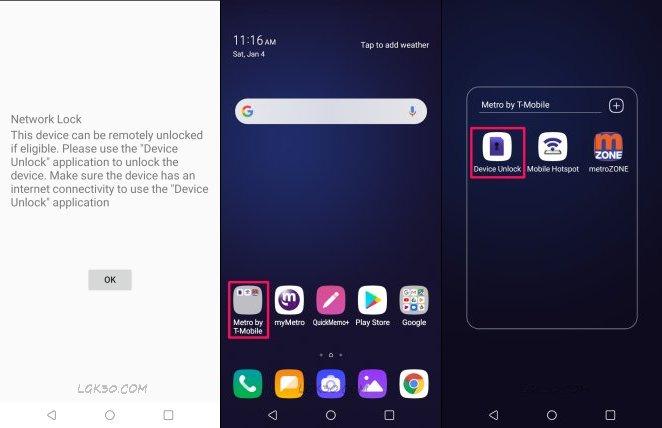 LG K40 MetroPCS unlock free