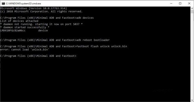 lg k30 fastboot flash unlock unlock.bin