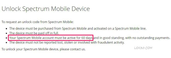 LG K40 Spectrum Mobile Unlock lmx420qm6
