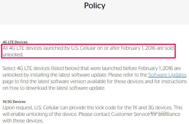 LG K40 US Cellular Unlock lmx420qm