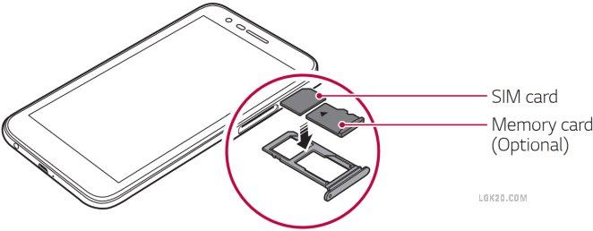 LG K30 SIM Card Slot