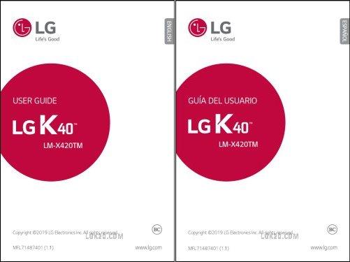 LG K40 Manual T Mobile