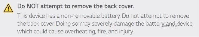 lg k30 removable battery