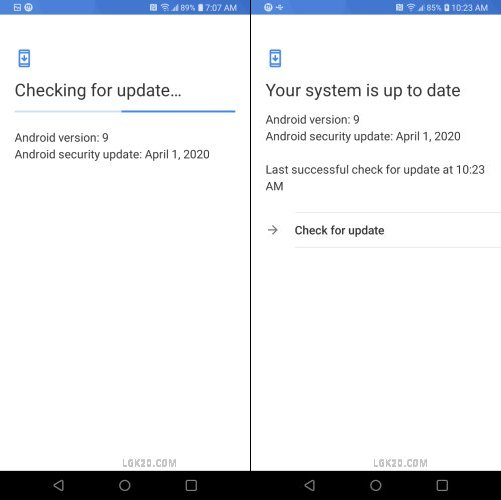 lg k40 android update