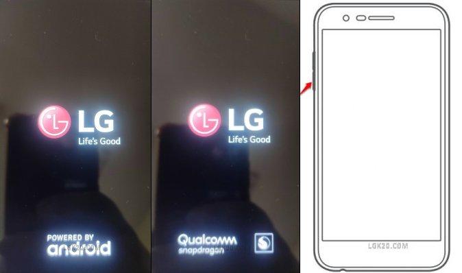 lg k30 stuck on firmware update screen