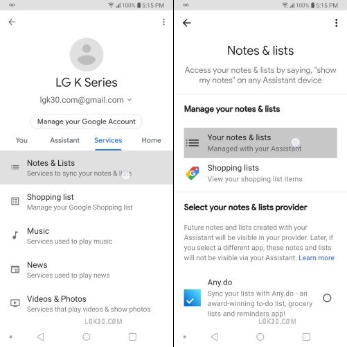 voice to text lg k40