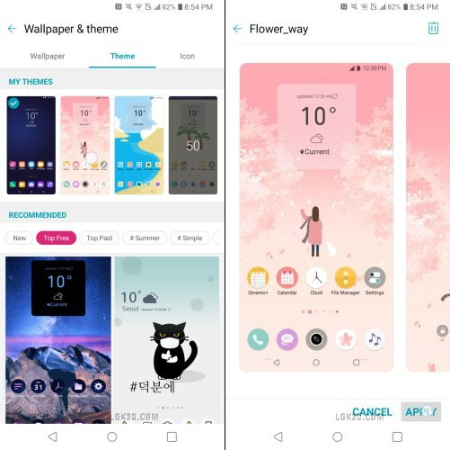 LG K40 Light Theme