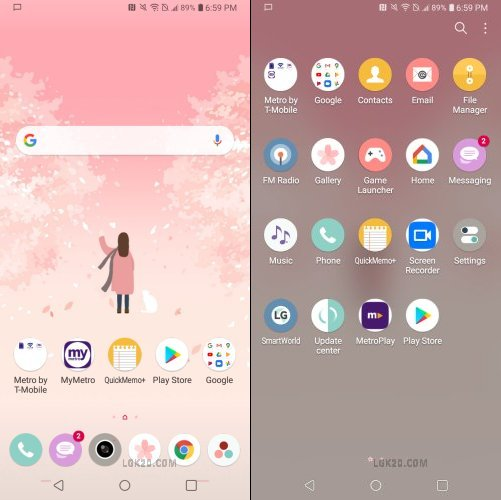 LG K40 Theme Download