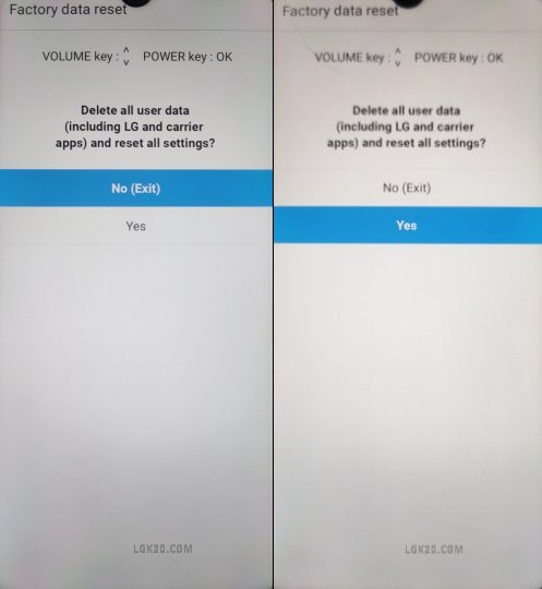 lg k51 recovery mode