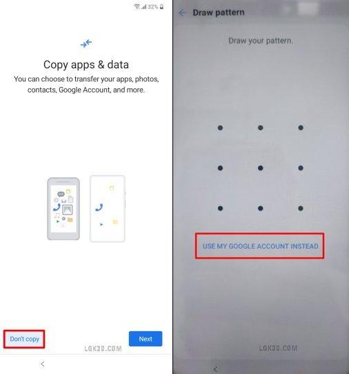 LG K51 Google Lock Bypass