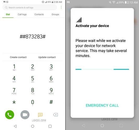 lg k51 boost mobile dialer codes