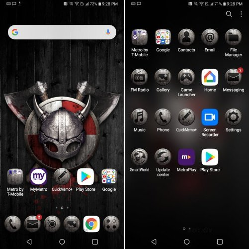 LG K40 Viking Shield Theme