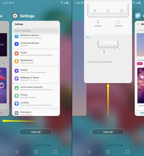 how to close apps on lg k51