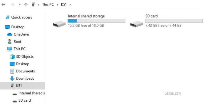 lg k51 internal shared storage