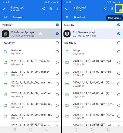 lg k51 hidden apps