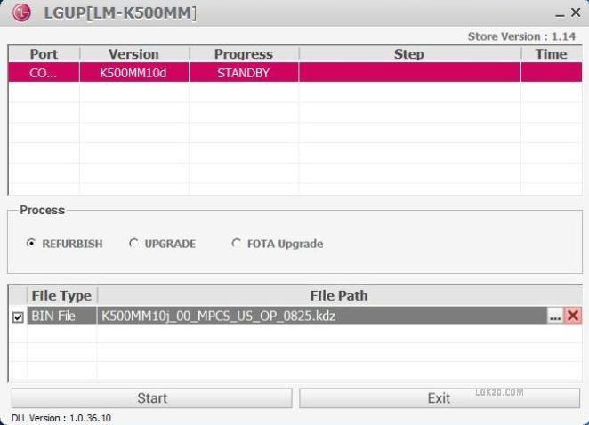 lg k51 metropcs software update