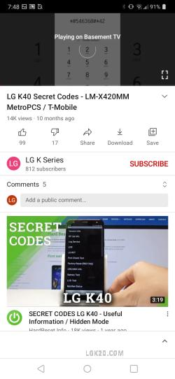 how to screen mirror lg k51 to tv