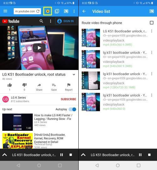 screen mirroring lg k51 to tv