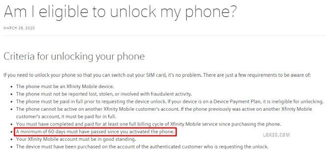 xfinity mobile lg k51 unlock code free