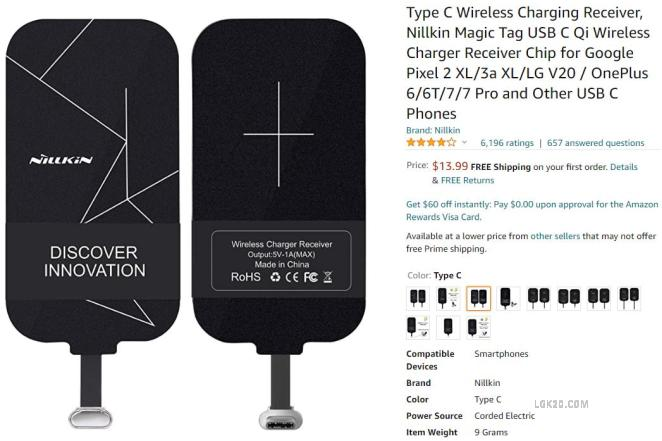 lg k51 wireless charger receiver