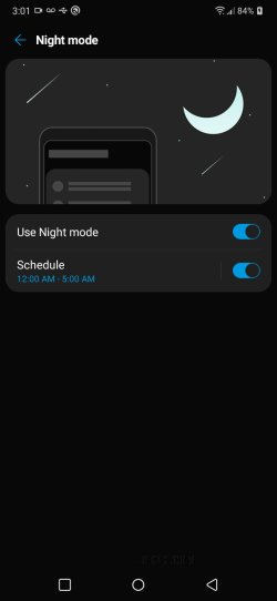 Does LG K51 have night mode?