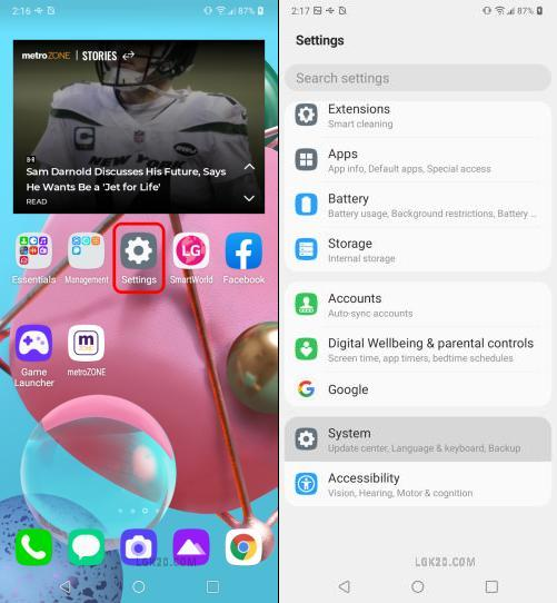 lg k51 android version