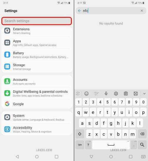 Is LG K51 NFC compatible?