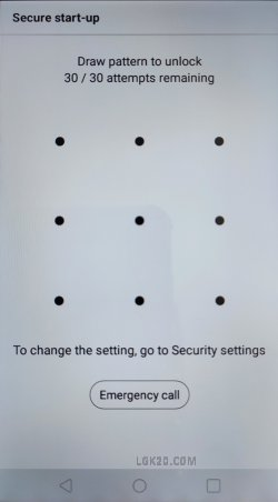 lg k30 k40 secure startup bypass