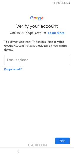 how to bypass google account on lg k92